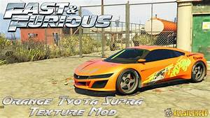 Fast And Furious Orange Toyota Supra Texture Mod GTA5