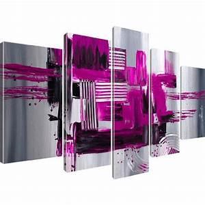 Leinwand 5 Teilig : kunstdruck abstraktion stadt wandbild auf leinwand 5 teilig 175x100 cm lila painting ideas ~ Whattoseeinmadrid.com Haus und Dekorationen