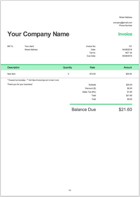 invoice  sample invoices wikihow