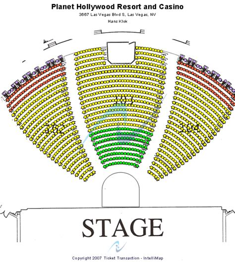 planet hollywood theater   performing arts seating chart