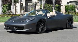 Ferrari 458 Noir : matte grey ferrari 458 spider is all kinds of nah ~ Medecine-chirurgie-esthetiques.com Avis de Voitures