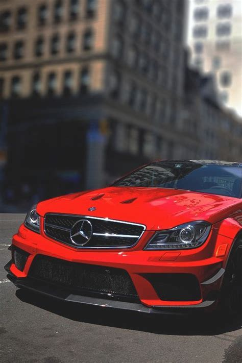 Mercedes-Benz C63 AMG Red