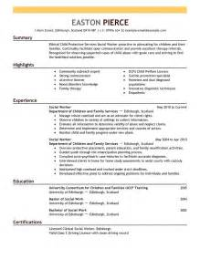 human services resume summary social worker resume sle career guide the knownledge