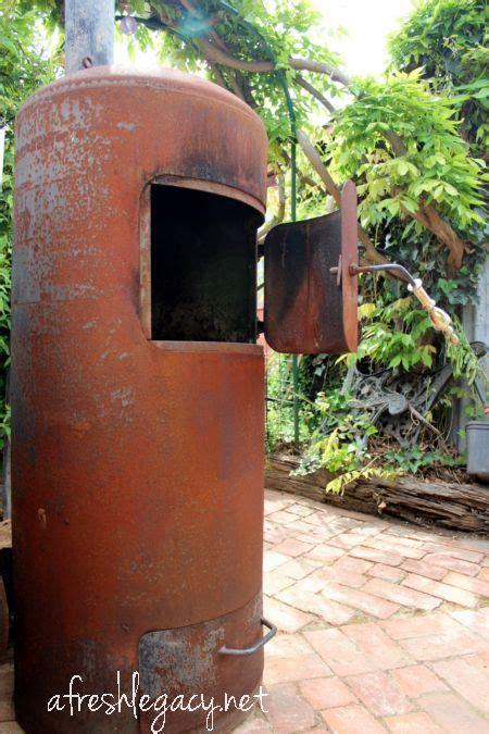 garden  color metal water tank diy heater outdoor