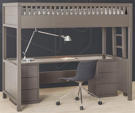 lit mezzanine bureau lit mezzanine quarré avec bureau rabattable quarré