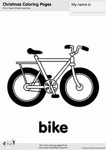 bike coloring page simple