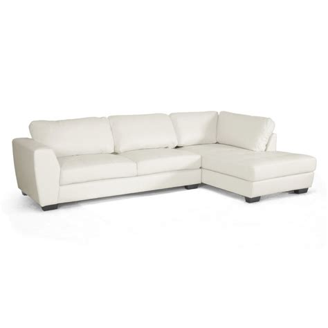 orland white leather modern sectional sofa set