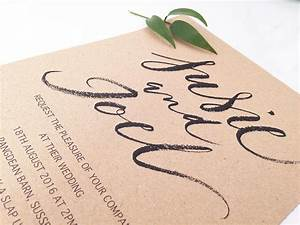 How to use brush calligraphy in your wedding invitations for Calligraphy wedding invitations cost uk