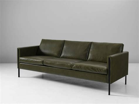 green sofas for sale pierre paulin reupholstered 442 sofa in green leather for