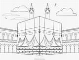 Mosque Coloring Islam Kabah Ausmalbilder Islamische Kinder Fur Moschee Religious sketch template