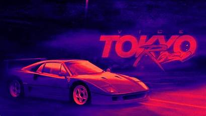 80s Retro Tokyo Wallpapers Background Vice Rose