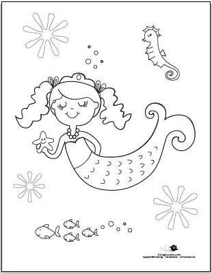 baby mermaid sheets colouring pages picture  mermaid