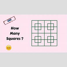 How Many Squares Are There In This Picture  How Many Squares Whatsapp Puzzle  Brain Teaser
