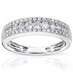 3 wedding rings three row wedding ring band in white gold jewelocean