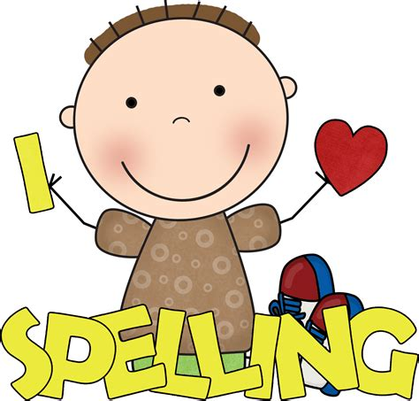 words clipart word clipart spelling pencil and in color word clipart