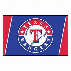 FANMATS Texas Rangers 4 Ft X 6 Ft Area Rug 7089 The
