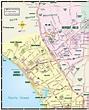 West LA Map, Santa Monica Map