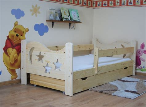 Camilla 140x70 Toddler Bed With Drawer, Color Natural