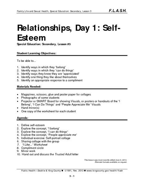all worksheets 187 self acceptance worksheets printable