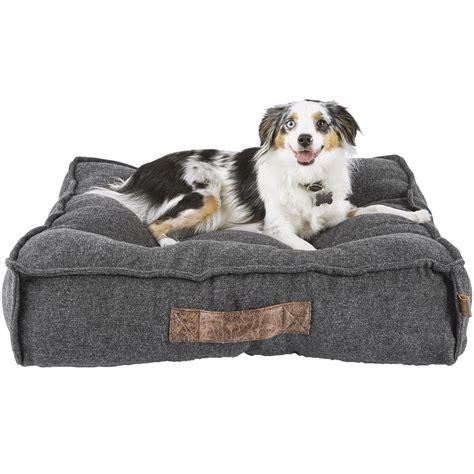 mattress size grey lounger memory foam bed petco
