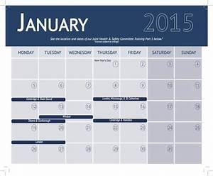 training calendar template 25 free word pdf psd With safety training calendar template
