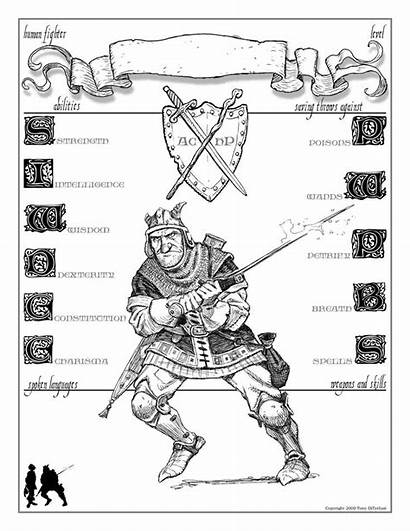 Character Dnd Sheet Sheets Diterlizzi Fighter Human