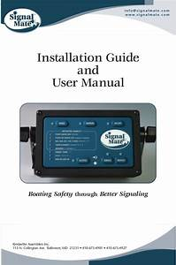 Signal Mate Restricted Visibility Signaling Owners Manual