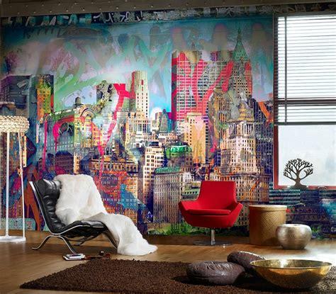 graffiti interiors home murals and decor ideas