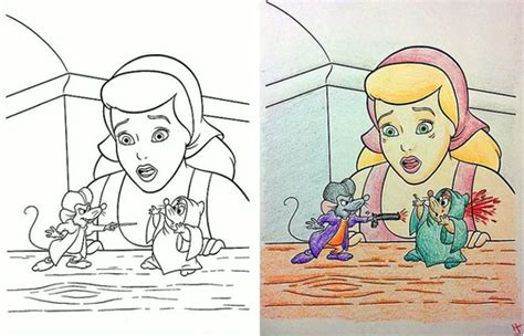 disney coloring books coloring book corruptions what happens when you let