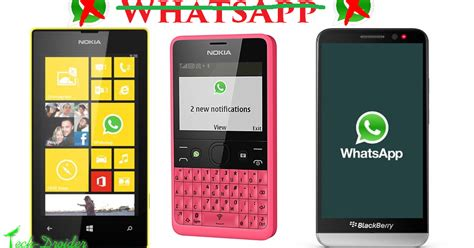 whatsapp to end support for symbian blackberry and windows phones