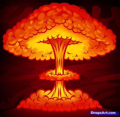 draw  nuke nuclear blast  dawn explosion