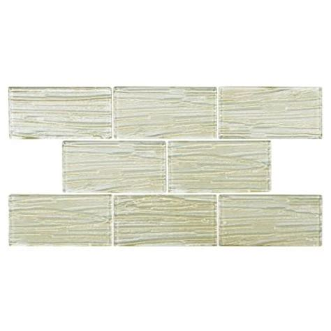 Home Depot Merola Subway Tile by Merola Tile Aspen Subway 3 In X 6 In Glass Wall