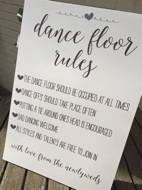 shabby chic wedding signs vintage rustic shabby chic a3 dance floor rules sign for weddings parties birthdays etc