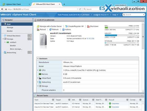 Esx Console by Esxi Free Web Client Interface Esx Virtualization