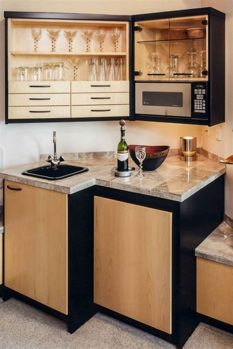 Kitchenette Cabinets by 45 Basement Kitchenette Ideas To Help You Entertain In