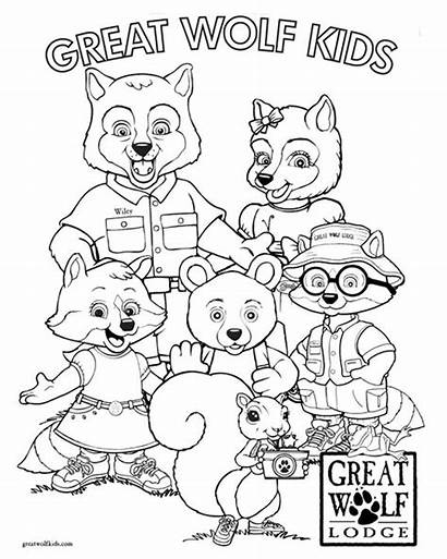 Wolf Lodge Coloring Pages Birthday Christmas Google