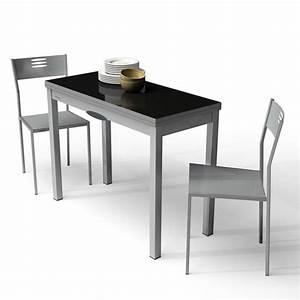Petite Table Extensible : table de cuisine extensible en verre et m lamin delibro 4 pieds tables chaises et tabourets ~ Teatrodelosmanantiales.com Idées de Décoration