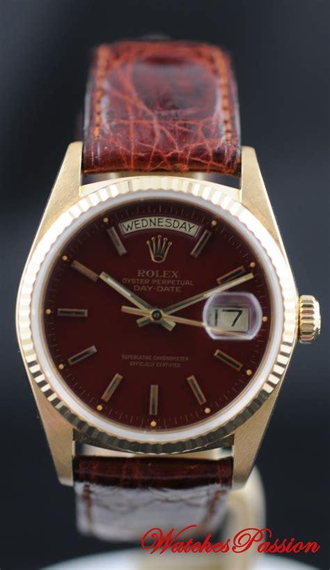 Omega Maroon rolex daydate 18038 stella maroon watches in 2019