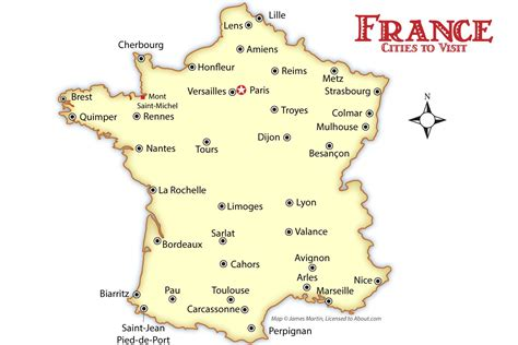 france cities map  travel guide