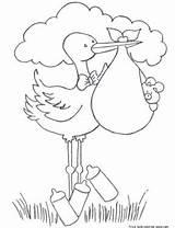 Baby Diaper Stork Coloring Pages Bundle Total Views Print Boy sketch template
