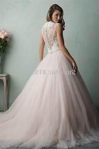 light pink lace wedding dress naf dresses With pale pink wedding dresses