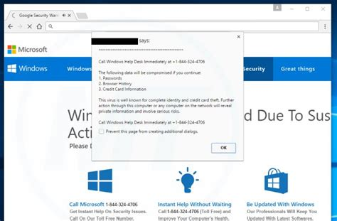 windows help desk phone number remove quot call windows help desk immediately quot virus support