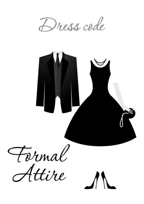 formal attire dress code dress code clipart