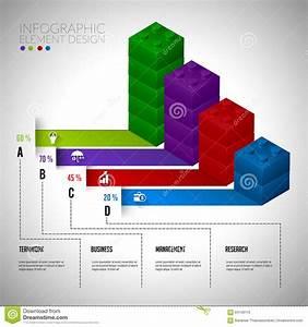 Lego Block Chart Infographic Concept Teamwwork  Stock