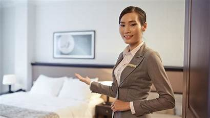 Lodging Manager Career Serving Asian Waiter Showing