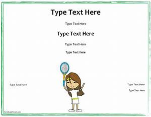 gift certificate template free tennis free voucher With tennis gift certificate template
