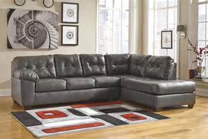 alliston gray right arm facing chaise sectional by ashley