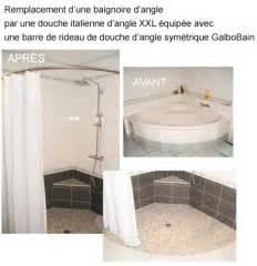 Transformer Baignoire En Douche : transformer une baignoire d 39 angle en douche italienne d ~ Dallasstarsshop.com Idées de Décoration