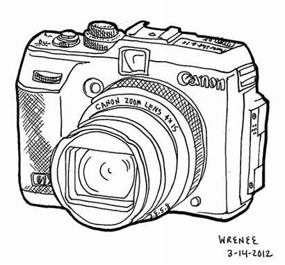 Camera Drawing Drawings Digital Line Canon Considering