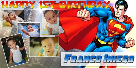 Superman Background For Birthday Tarpaulin Wwwpixshark